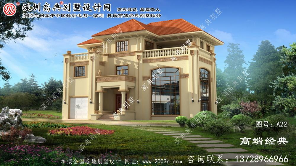 铜山县华丽欧式三层复式别墅设计图纸