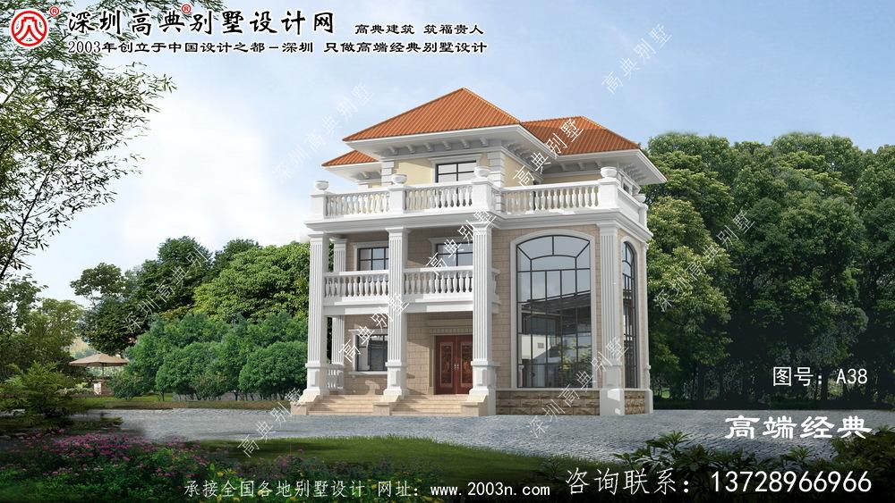 溧水县欧式风格三层复式带阳台别墅设计图