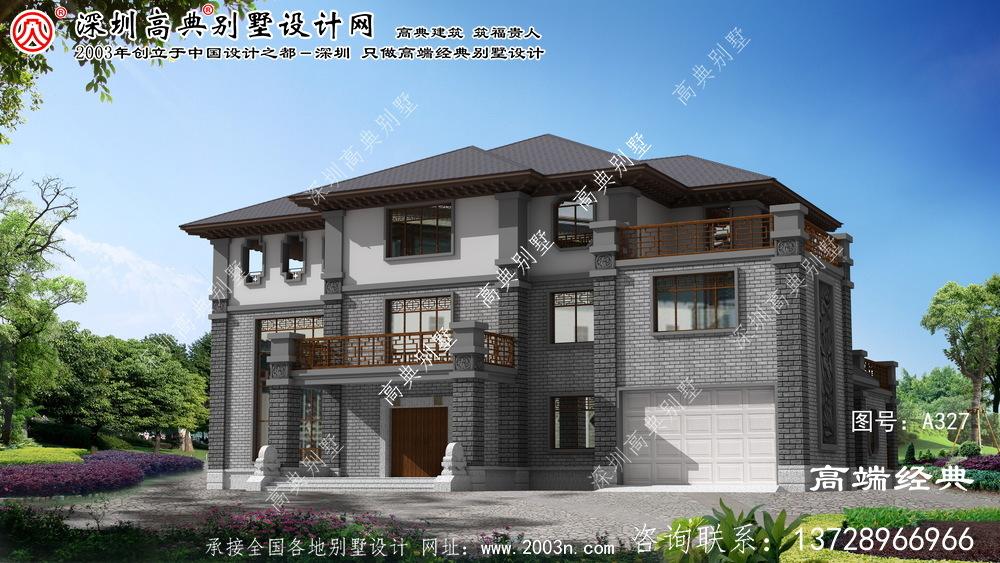南浔区三层中式别墅设计图