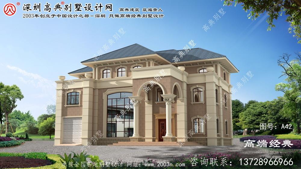 谢家集区农村复式别墅设计图