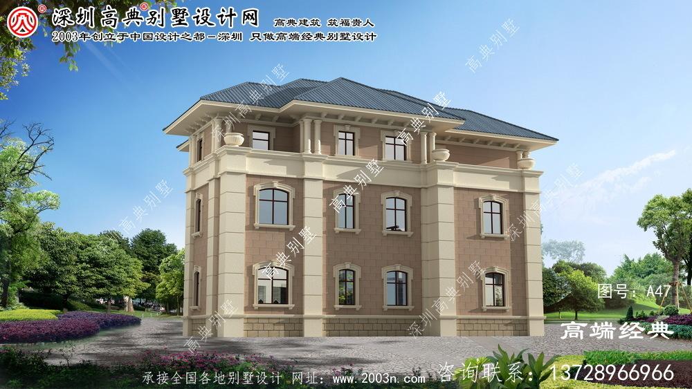 松阳县农村三层房屋设计图