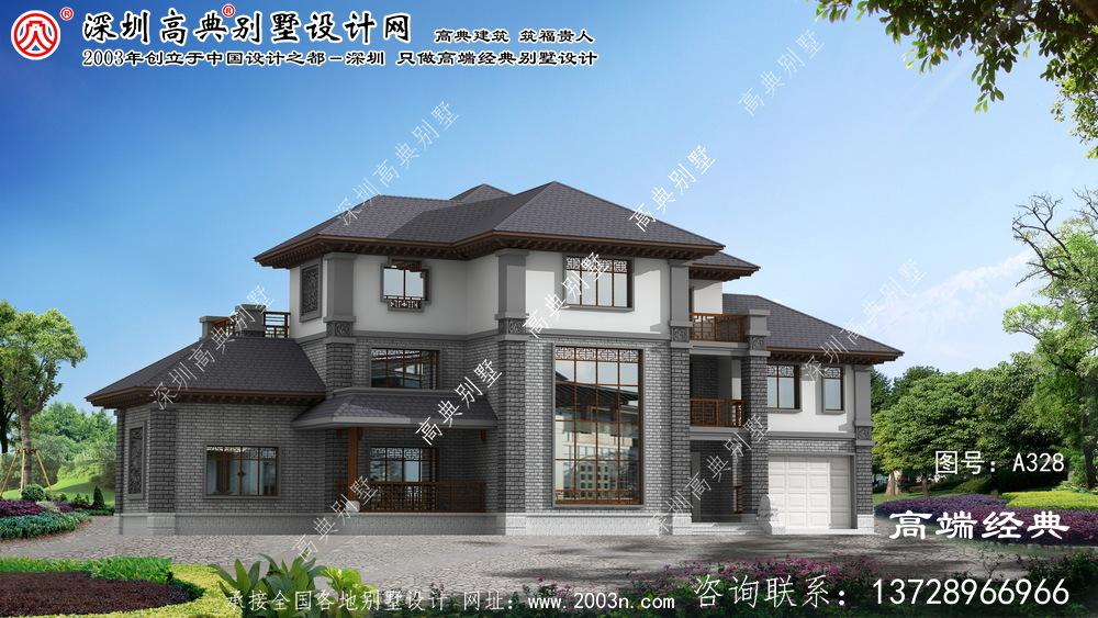 鄞州区三层新农村中式别墅设计图