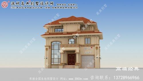 江山市三层小别墅设计