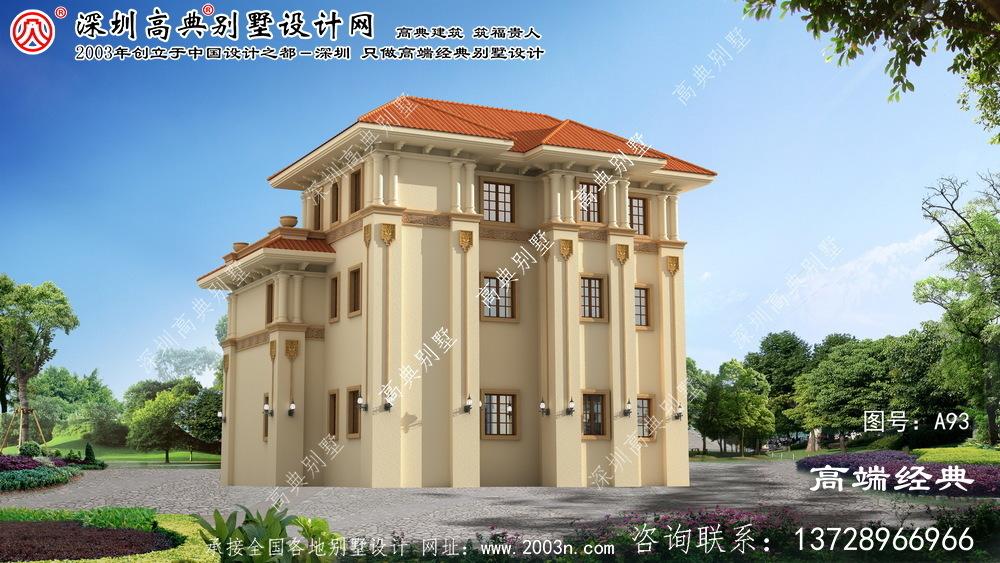 江山市三层小别墅设计图纸