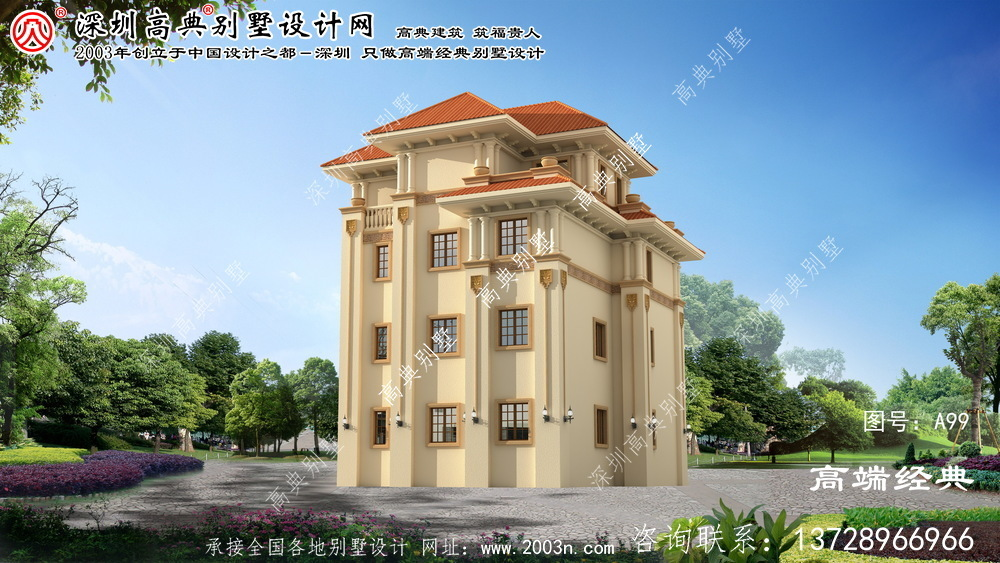 德清县四层楼房设计图