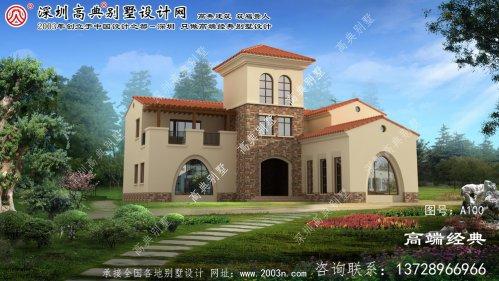 淮上区三层别墅设计图