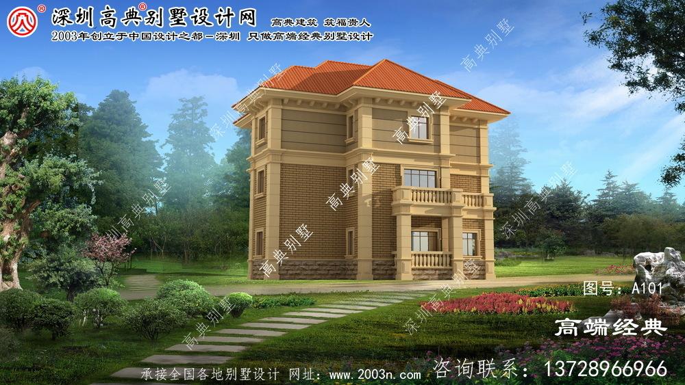 新芜区欧式别墅外观效果图