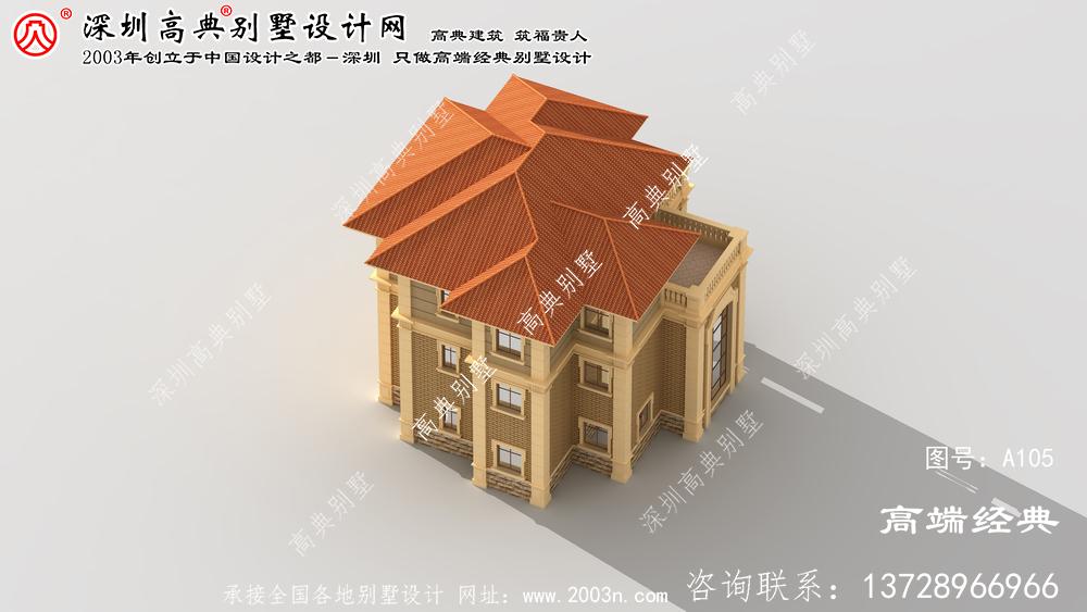 南陵县农村别墅外观效果图