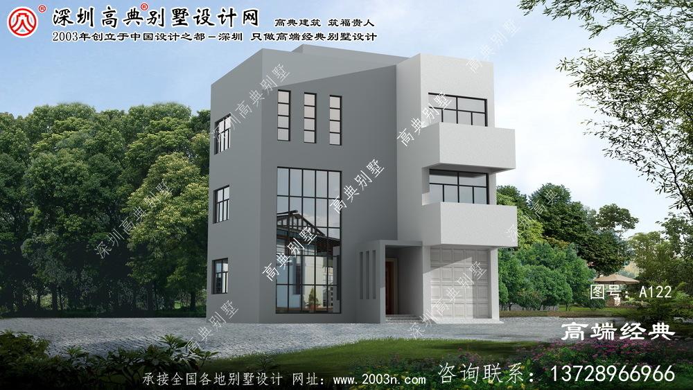 天台县农村三层别墅设计图