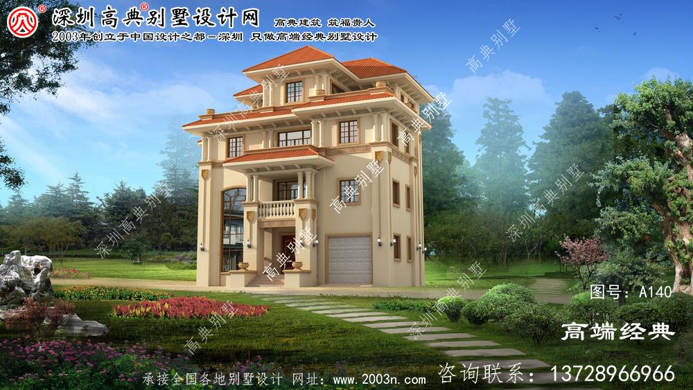 临海市新农村四层别墅设计图