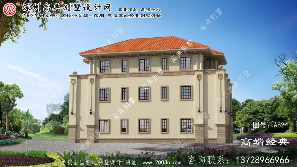 石台县三层别墅户型设计图