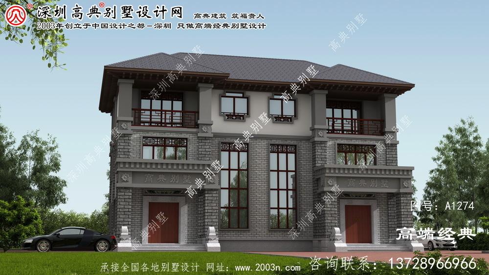 蓟县三层双拼别墅设计图