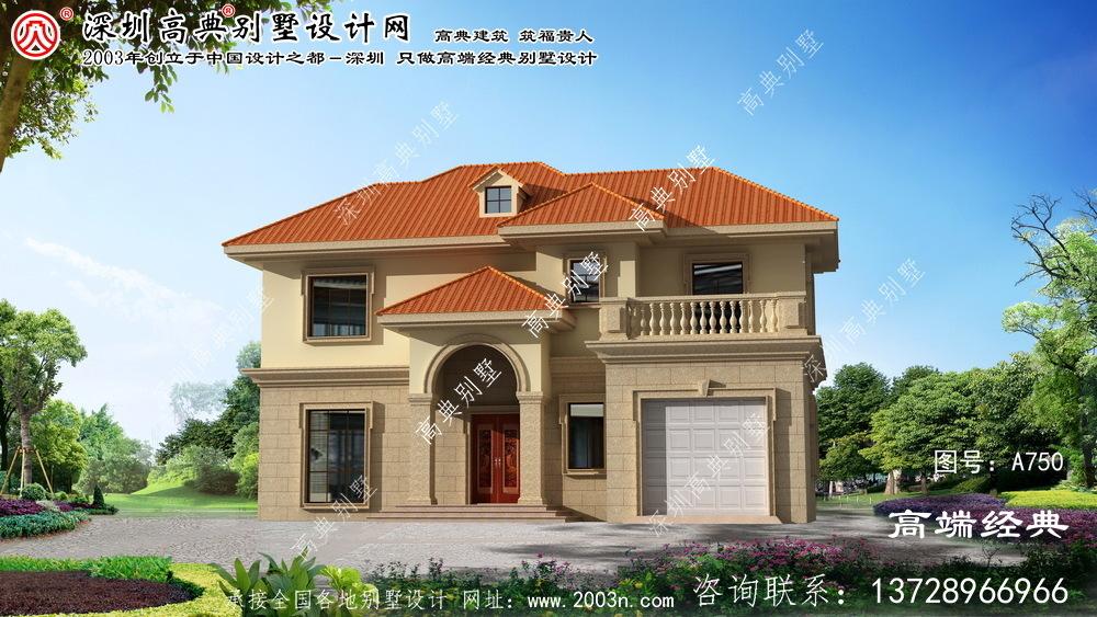 叶县小户别墅设计图带车库
