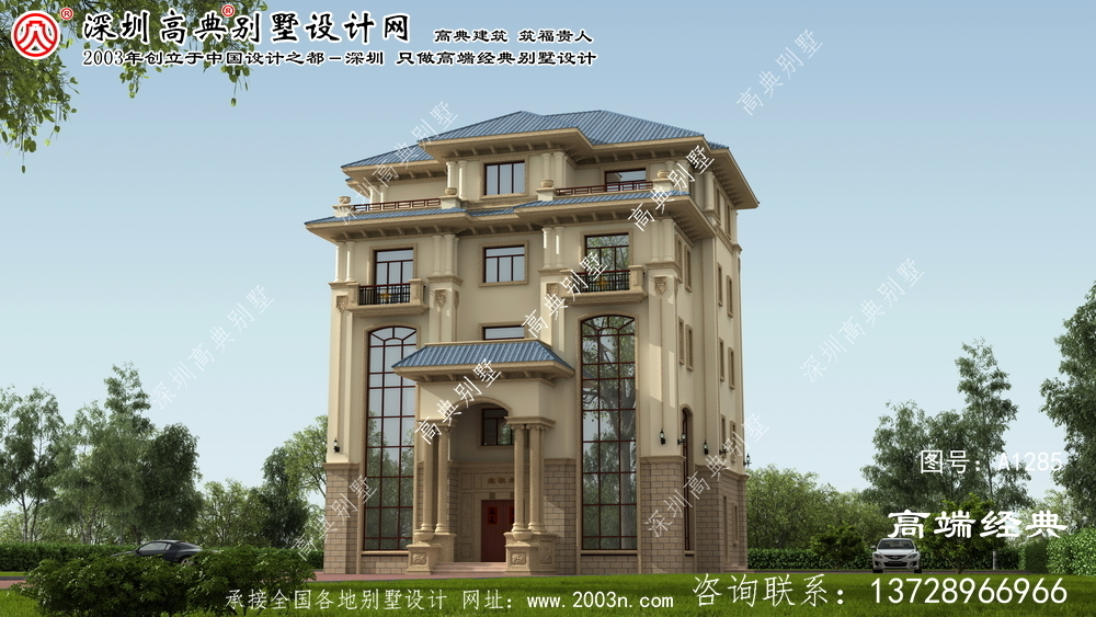 娄底市15x15米大别墅设计图
