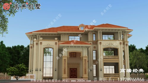 丹巴县别墅外型设计