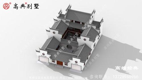 农村三层苏式庭院别墅