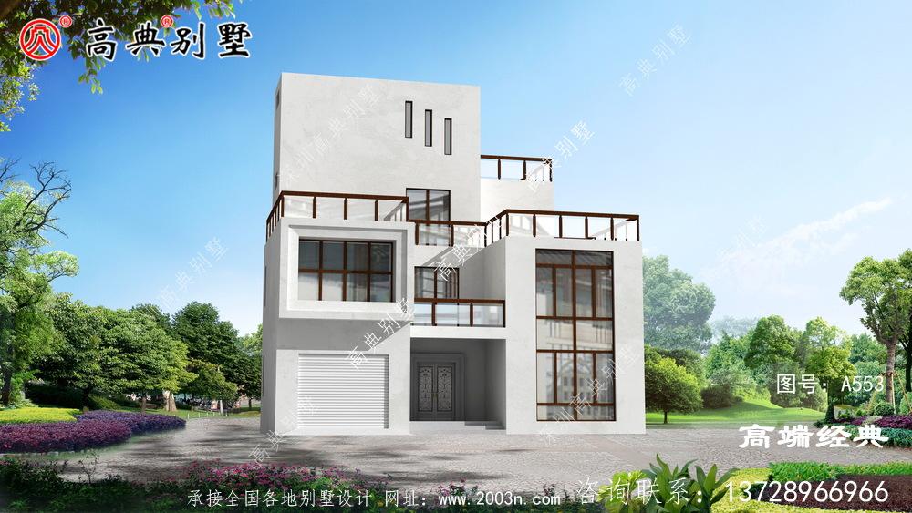 农村现代三层别墅图片