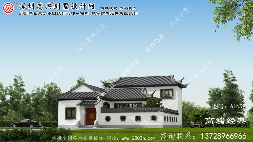邵阳县中庭别墅外部效果图,素雅高贵。