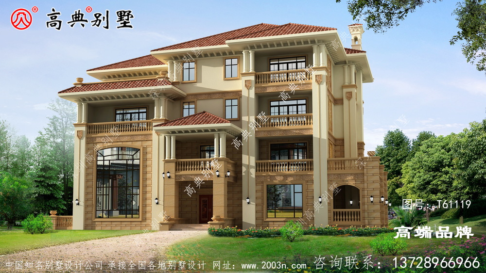 3层别墅设计图简约明朗的欧式风