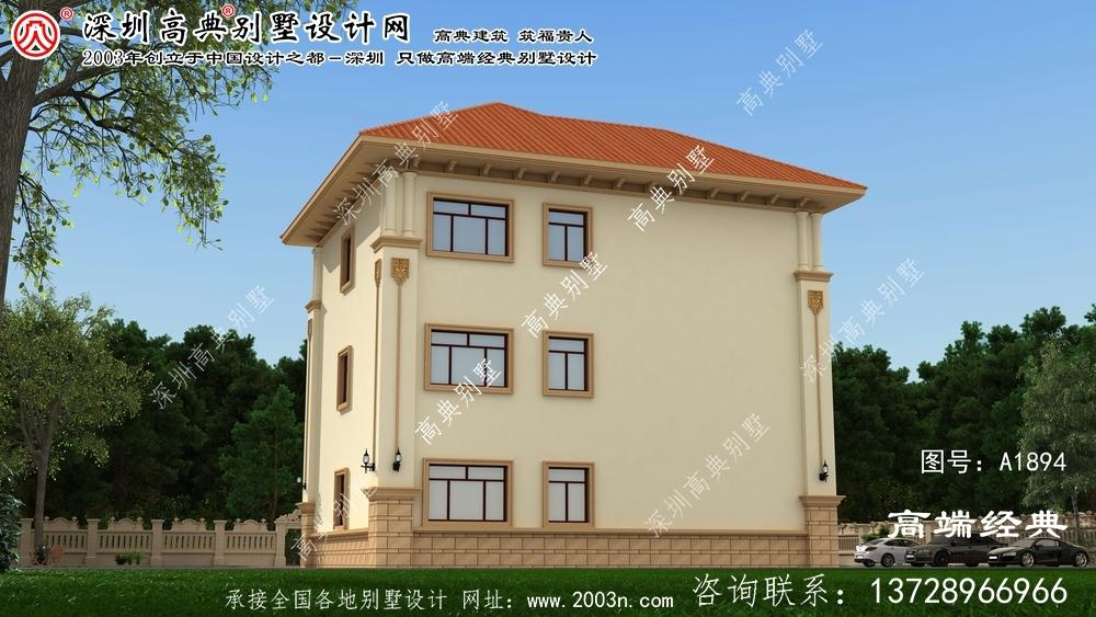 聊城市复式三层欧元别墅设计方案室内布局合理实用。