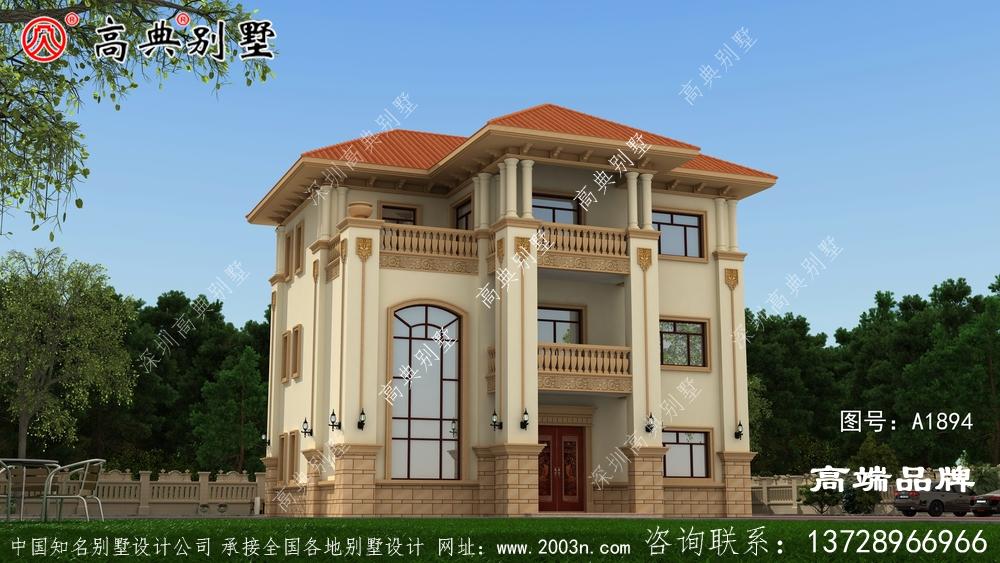 农村自建房三层设计图本方案外观美观 ,内在实用