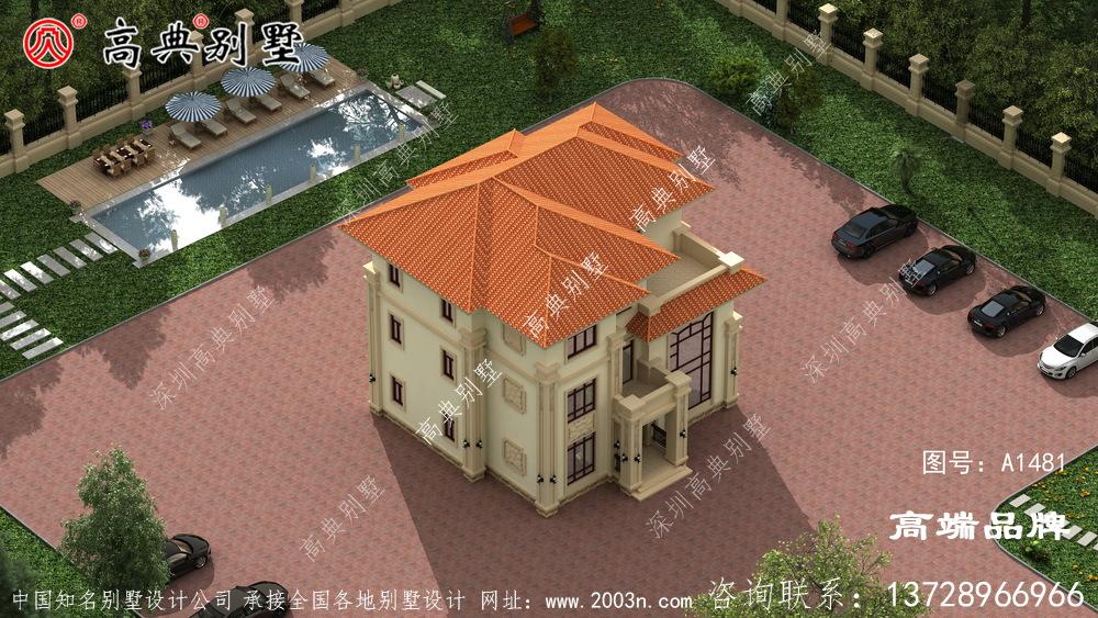农村建房设计图二层半采光和通风都很好