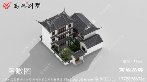 中式三层别墅图非常适
