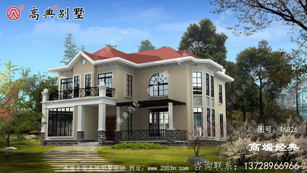 两层别墅效果图,看看你喜欢吗?