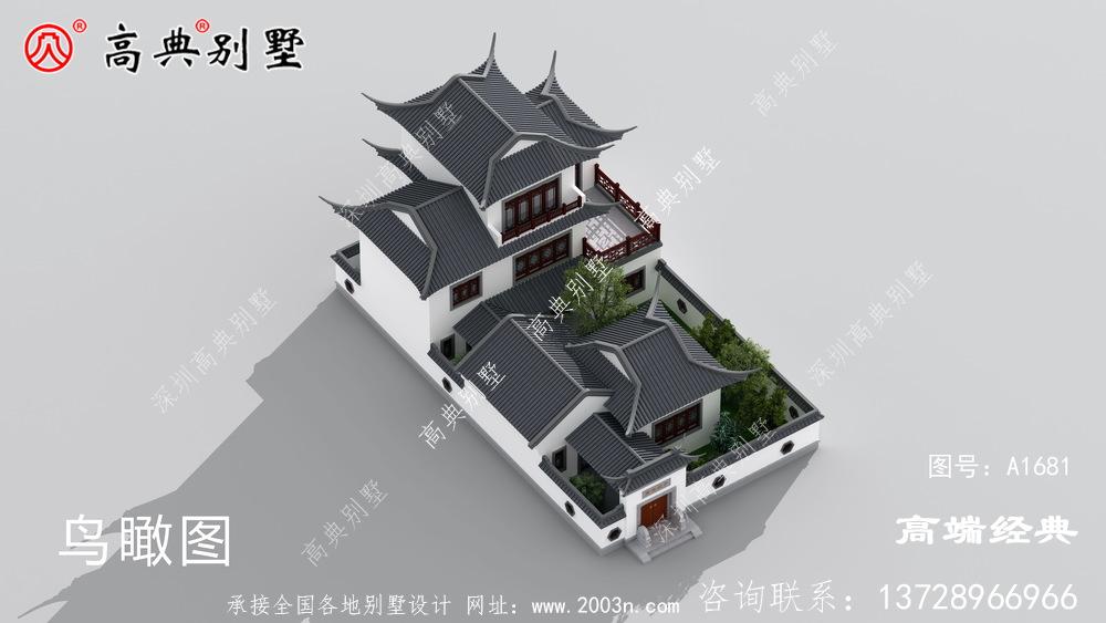 平湖市新中式三层住宅户型设计图,生活 起来 很方便 ,也很大 气。