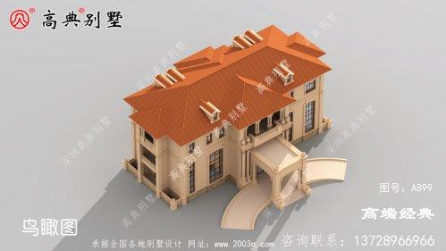 农村建房造型层次感也