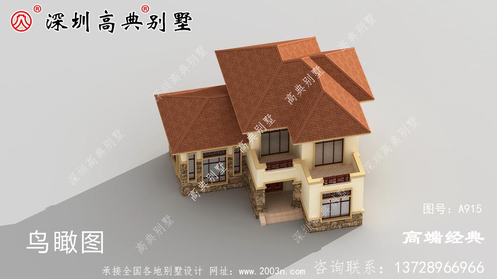 二层楼设计图,简单经济又美观,这样的别墅谁建谁好看