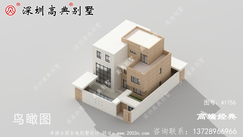三层现代时尚小楼设计图,露台精美大方,越看越喜欢。