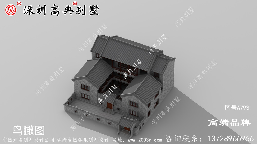 富贵大气的中式合院别墅设计,每一栋都可以传承百年