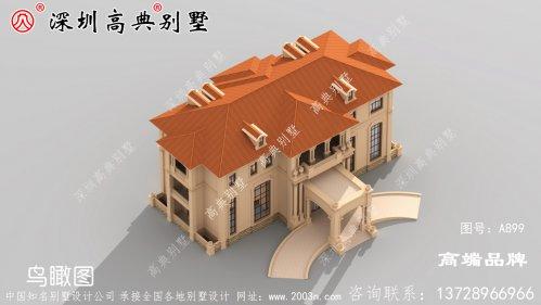 三层别墅,尺寸是门面