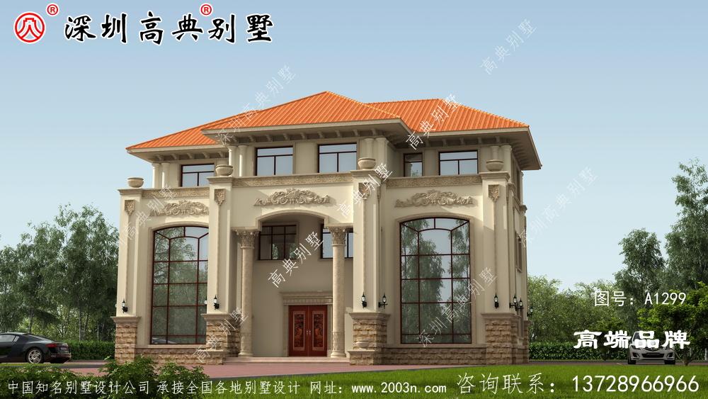 三层农村自建房设计图,住起来肯定令人心神愉悦