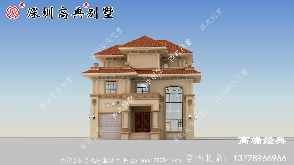 农村现代简单的别墅,这每个角度都能引人注目。