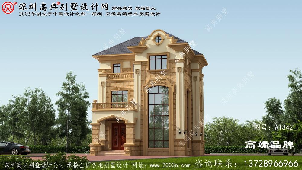 别墅设计图纸造价 30万 左右 ,很经济 ,有房子 ,在老家 也有 一席之地 。