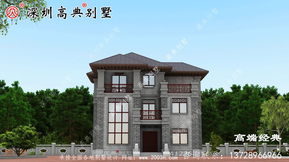 农村二楼半小户型别墅的设计图,建设好绝对是人上人。