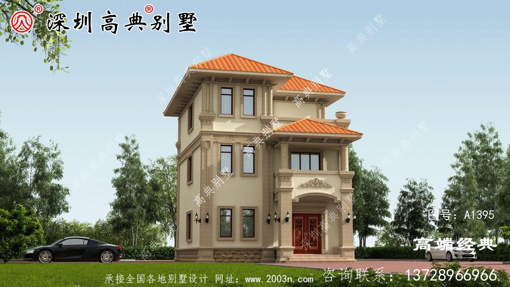 乡村欧式三层别墅,施工简单,性价比高,适合乡村建设才是最好的。