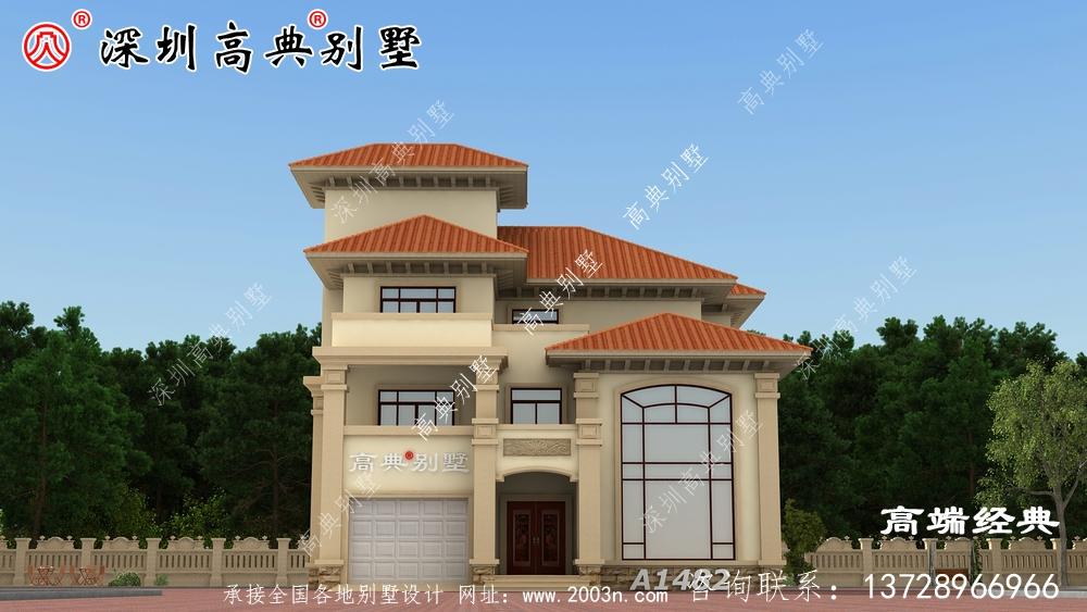 三层带露台别墅图片,想要大露台的就这样设计,洋气又实用