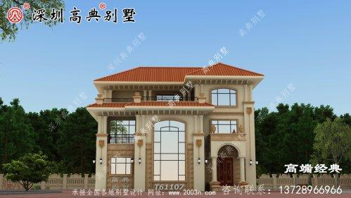 新款别墅图两层半户型