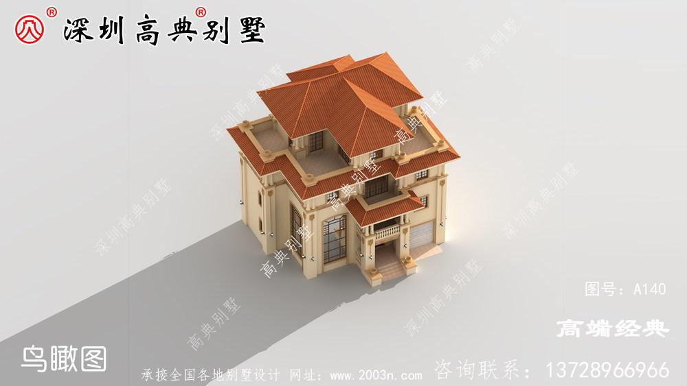 最新款农村三层半别墅图纸,必将成为农村里数一数二的人
