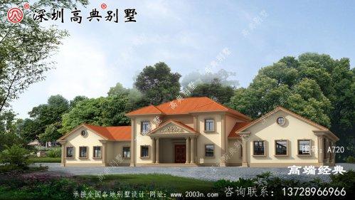 新款二层别墅图,外观