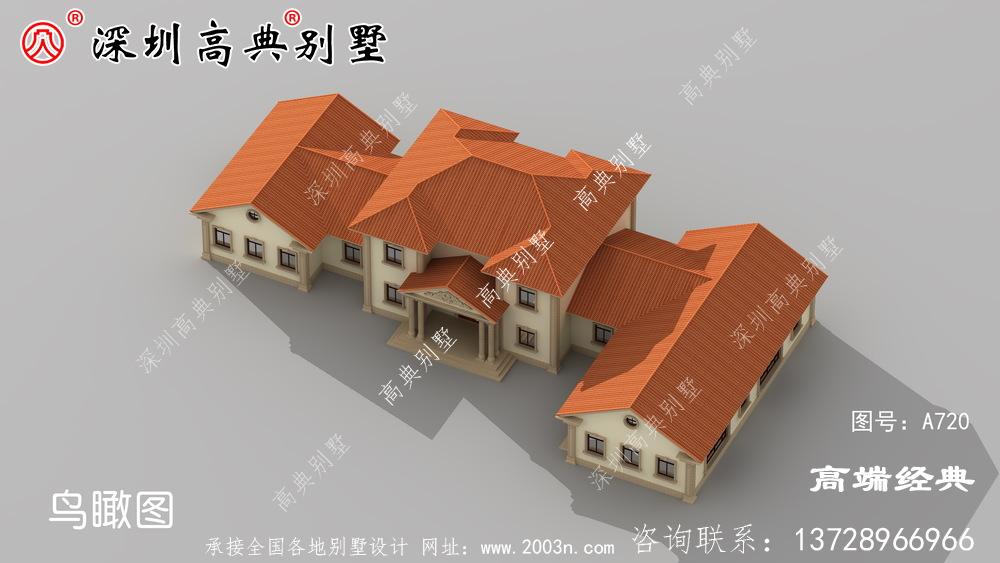 新款二层别墅图,外观简单漂亮,回乡建房就选它