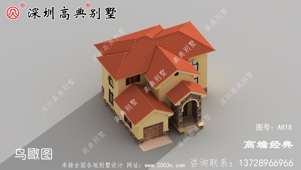 占地面积小,建一栋最漂亮的二层小别墅