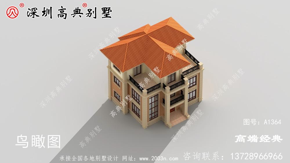 乡村三层别墅最美,经济实用,无需借钱即可建造。