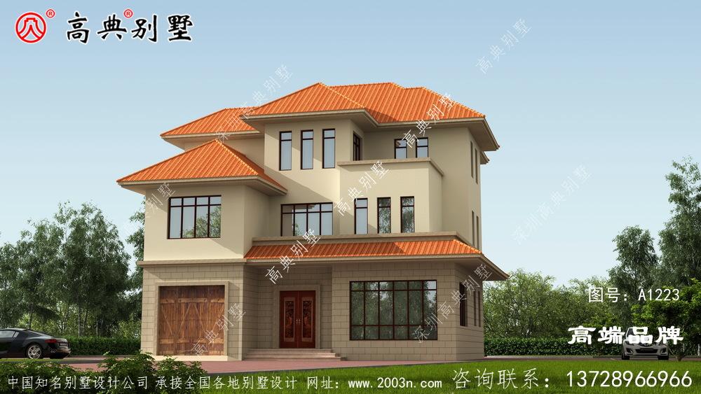 我的别墅建起来村里都说好看,邻居准备照着我家的款式建