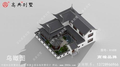 经典中式庭院灰色屋顶