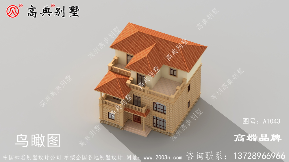 别墅外观凹凸有致,打造美观舒适的新住宅