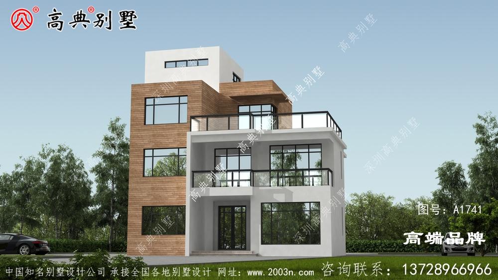 现代风格两层半也是农村朋友建造最多的户型